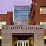 Circular image of Rio Rancho City hall entrance.